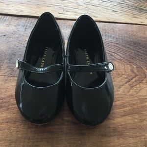 Ralph Lauren baby black shoes